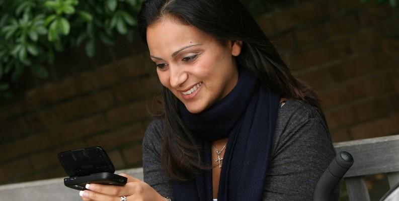 mujer smartphone